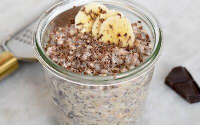 Overnight oats chocola banaan