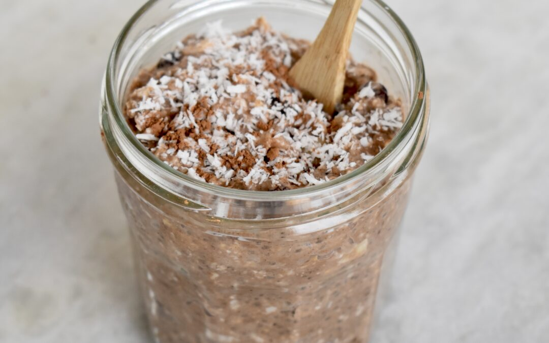 Overnight oats coconut chocolate