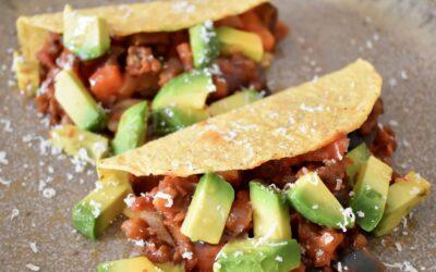 Vega taco's met linzen