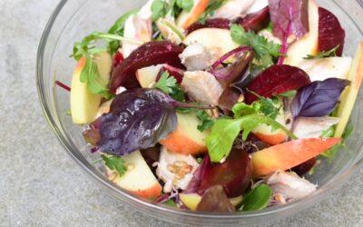 Salade makreel bieten en appel